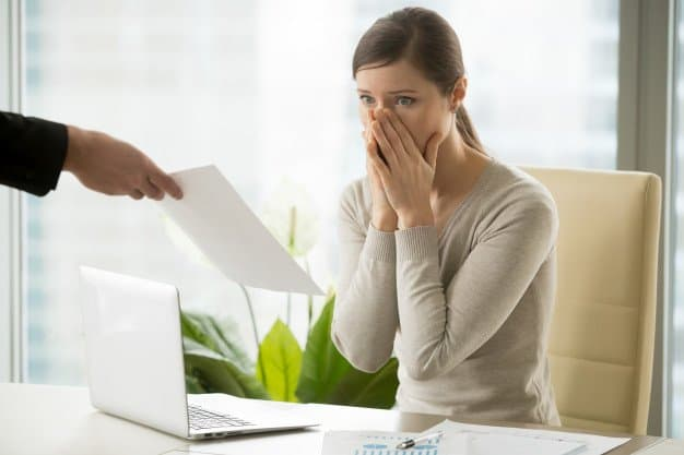 Woman shocked from high debt-to-assets ratio
