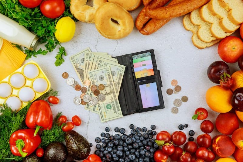 How much money do you spend on food a month?
