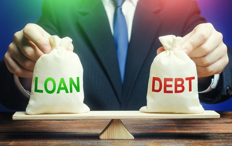 Not having too much debt, whether it's good debt or bad debt, is ideal.