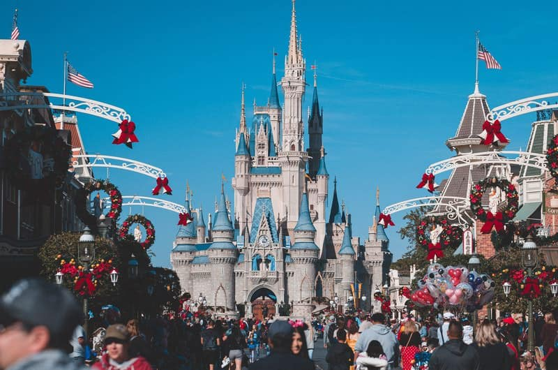 A view of the famous Cinderella castle at Disney.
